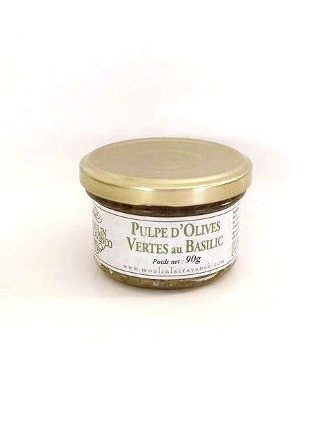 Pulpe d'olives verte AU BASILIC 90g